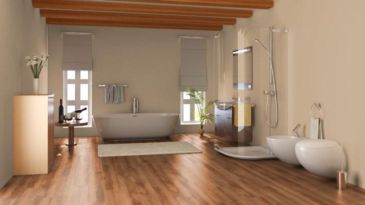 Keuken Badkamer Vloeren : Pvc vloer keuken en badkamer